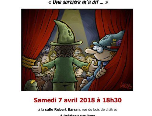 Cabaret conté le samedi 7 avril à Brétigny