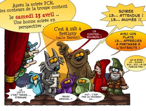 Soirée contes 13.. agréable !